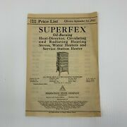 Superfex Perfection Stove Company Brochure 1933 1934 Oil Burning Heat Director