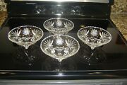 Anchor Hocking Prescut Early American Star Of David 4 Bowls 6 3/4 Across Top