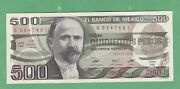 Mexico 500 Peso Note P-79a 14 March 1983 About Uncirculated