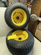 John Deere 425 Tractor Rear Wheels And Good Year Tires 23x10.5-12