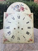 8 Day Longcase Grandfather Clock Movement And Face For Parts