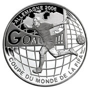 Congo Dem.rep. 10 Francs 2004 Silver Proof 'fifa World Cup - Germany'
