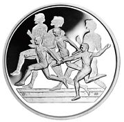 Greece 10 Euro Nd2003 Silver Proof And039ancient And Modern Olympics Relay Raceand039