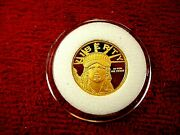 Lady Liberty 1/10 Oz Gold Coin Uncirculated Pristine Condition 24kt Pure Gold