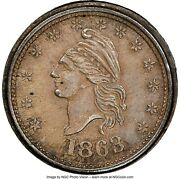 Fuld 1/229f R-8 Ngc Ms-64 - Liberty / Our Country In Silver - Ex Fuld And Partrick