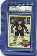 1980 Opc O-pee-chee Ray Bourque 140 Rookie Card Rc Psa/dna Nm-mt 8 Auto