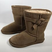 Bearpaw Womens Size 8 Brown Suede Sherpa Lined Boots