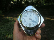Magnificent New Haven Clock 8 Day Wind Up Dash Clock And Chrome Case Guaranteed