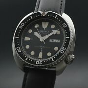 Seiko 6306-7001 Vintage Overhaul 3rd Diver Ss Automatic Mens Watch Auth Works