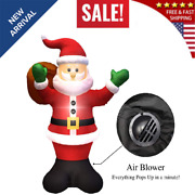 Christmas Inflatable Santa Claus 6ft Led Light Up Blow Up Yard Decoration