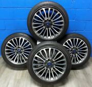 4 Oem Ford Fusion 2017-2018 Rims Aly10121 And Goodyear Eagle Ls2 Tires 235/45r18
