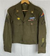 Ww2 Us Army 1944 Wool Field Ike Jacket 38r 29th Infantry 7th Division Corporal