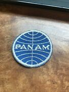 Rare Vtg Orig 70s 60s Pan Am Airlines Uniform Patch Logo 2andrdquo Employee Defunct Usa