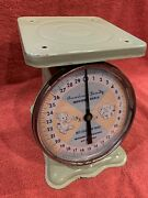 Antique Vintage American Family Baby Nursery Scale Green