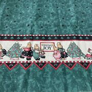 Vintage 1995 Daisy Kingdom Music And Laughter Bunny Border Cotton Fabric 2+yards