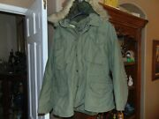Vintage Us Army Military M-65 Cold Weather Field Jacket Small Fur Hat And Gloves