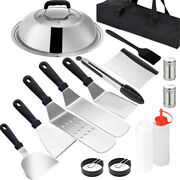16pcs Barbecue Tool Sets Flat Top Sizzle Indoor Grill Cooking Set For Ccooking