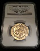 1787-2014 'eb' Brasher Doubloon .9999 Fine Gold Ngc Ana Release 411/500
