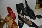 Vintage Womens Shoes Fur Native Slippers, Flats, Hush Puppies, Peep, Pixie Boots