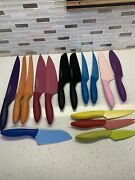 Kai Pure Komachi 2 Knifes 15 Pieces Stainless Steel Knives Colored