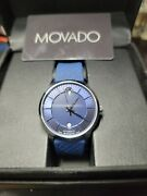 Movado 1881 Automatic Blue Dial Stainless Steel Automatic Menand039s Watch 606874