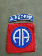 Wwii Us Army 82nd Airborne Infantry Division Patch Tab Set