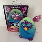 Furby Boom Crystal Series Interactive Toy Green Blue Ombré Purple Work Rare 2014