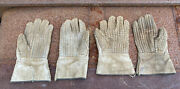 1943 Ww2 Canada 2 Pair Barb Wire Handling Gloves All Dated Stamped 644 Military