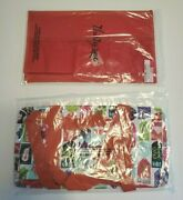Thirty One Medium Utility Tote Hello Holiday Christmas + Red Stand Tall Insert