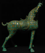 20 Rare Antique China Bronze Ware Dynasty Palace Tang Horse Steed Sculpture