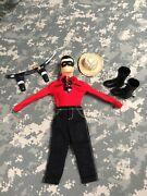 Vintage Captain Action Lone Ranger Red Shirt Black Pants Hat Boots And More