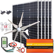 1000w Solar And Wind Power Kits Home Off-grid System For Charging 12v Battery:400w