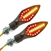 Led Indicator Sequential Integrated Rear And Brake Light Universal Motorbike M10
