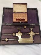 Watchmakers / Jewellers Lathe Or Jacot Tool With Assorted Drill Bits Both Boxed