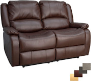 Recpro Charles Collection | 58 Double Recliner Rv Sofa | Rv Zero Wall Loveseat