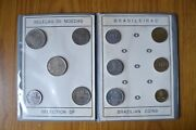 Stock 11 Coins Brazil Selection Of Coins Brazilian Centavos Reis Years Various
