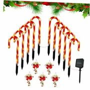 Christmas Solar Candy Cane Pathway Markers Lights- 22 Inch Indoor And Outdoor