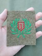Rare Beautiful Wwi Us Army 1st Infantry Division Big Red One Patch