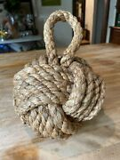 Fist Rope Knot Door Stop Nautical Tropical Show Stopper