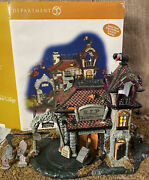 Dept 56 Halloween Rest In Peace Tombstones Lit And Animated 54608 + Extras