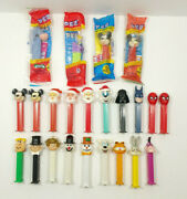Pez Dispensers With Feet Lot Of 23 Mickey Mouse Garfield Bugs Bunny Flintstones