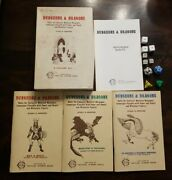 Vtg 1974 Dungeons And Dragons 3 Volume Set Rules Book Collectors Ed Box Dice Tsr