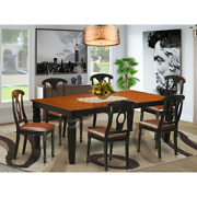 7-piece Kitchen Table Set With One Logan Table And 6 Dining Room Chairs In Black