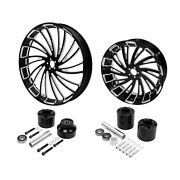 26 Front 18and039and039 Rear Wheels Rim W/ Disc Hub Fit For Harley Touring Glide 08-21 Us