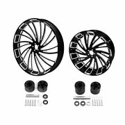26 Front 18and039and039 Rear Wheels Rim Anddisc Hub Fit For Harley Touring Road Glide 08-21