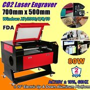 700mm X 500mm 80w Co2 Laser Engraver And Cutter Machines Efr F2 Laser Tube