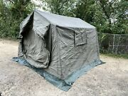 British Army 9x9 Land Rover Canvas Command Tent Expedition Fishing Shelter Of...