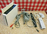 Nintendo Wii White Console Bundle Rvl-001 Remote And Nunchuck Controllers Tested