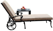 Cbm Patio A Pair Of 2 Kawaii Collection Cast Aluminum Powder Coated Chaise Loung