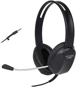 Cyber Acoustics 3.5mm Stereo Headset With Headphones And Noise Cancelling Microp